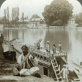 Houseboat Party  Jhelum River  Kashmir  India  C1900s