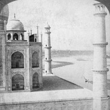 Looking North-West from the Taj Mahal Up the Jumna River to Agra  India  1903
