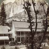 Sentinel Hotel  Looking North across the Valley to Yosemite Falls  California  USA  1902