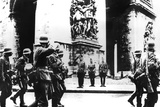 German Troops Marching Past the Arc De Triomphe  Paris  14 June 1940