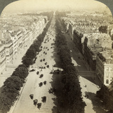 Champs Elysees from the Arc De Triomphe  Paris  France  19th Century