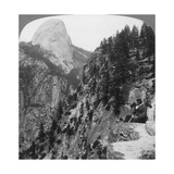 View from Glacier Canyon to Half Dome  Yosemite Valley  California  USA  1902