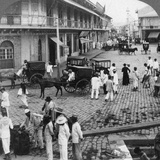 Rosario Street and Binondo Church as Seen from Pasig River  Manila  Philippines  1899