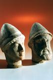 Heads of Dignitaries  Kerkouane  Tunisia  3rd Century Bc
