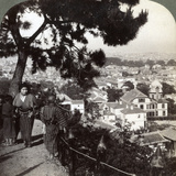 Looking South-East from the Pine Crowned Heights of Suwa-Yama over Kobe  Japan  1904