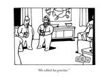 """""""His schlock has gravitas"""" - New Yorker Cartoon"""