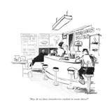 """Hey  do we have strawberries crushed in cream cheese"" - New Yorker Cartoon"