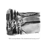 """""""Ed's security blanket Two hundred and twenty acres!"""" - New Yorker Cartoon"""