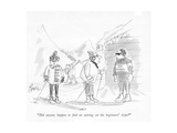 """Did anyone happen to nd an earring on the beginners' slope"" - New Yorker Cartoon"