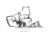 """""""Feign indifference"""" - New Yorker Cartoon"""