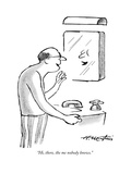 """""""Hi  there  the me nobody knows"""" - New Yorker Cartoon"""