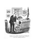 """""""Thank you for coming The talks were forthright and useful  and provided …"""" - New Yorker Cartoon"""