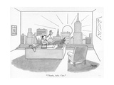 """Thanks  baby Ciao"" - New Yorker Cartoon"