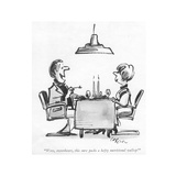 """""""Wow  sweetheart  this sure packs a hefty nutritional wallop!"""" - New Yorker Cartoon"""