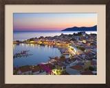 Harbour at Dusk  Pythagorion  Samos  Aegean Islands  Greece