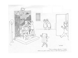 """Just a minute  Barton I don't think you quite realize why we take these …"" - New Yorker Cartoon"