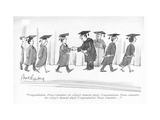 """Congratulations Please remember the college's nancial plight Congratul…"" - New Yorker Cartoon"