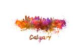 Calgary Skyline in Watercolor