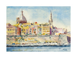 A Watercolor Painting of Valletta  Malta