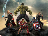 The Avengers: Age of Ultron - Thor  Hulk  Captain America  Hawkeye  and Iron Man