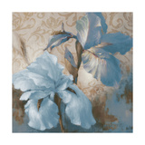 Soft Blue Blooms I Reproduction d'art par Lanie Loreth