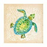 Sealife Turtle Giclée premium par Julie DeRice