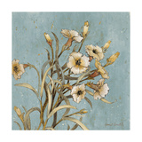 Wild Flowers on Blue I