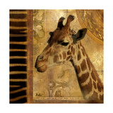 Elegant Safari III (Giraffe) Giclée premium par Patricia Pinto