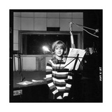 Sylvie Vartan Recording in a Studio