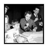 Jeanne Moreau Slicing a Cake