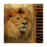 Elegant Safari IV (Lion) Giclée premium par Patricia Pinto