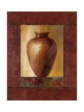 Mahogany Pottery Vase