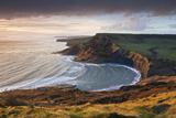 Storm Light Illuminates Chapmans Pool and Houns Tout Cliff  Viewed from St Aldhelm's Head  Dorset
