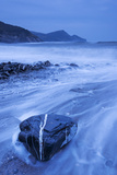 Shores of Crackington Haven on a Stormy Winter Day  Cornwall  England