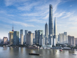 Shanghai Tower and the Pudong Skyline across the Huangpu River  Shanghai  China