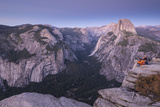 Half Dome and Yosemite Valley from Glacier Point  Yosemite National Park  California