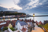 United Kingdom  England  North Yorkshire  Whitby the Harbour and 199 Steps