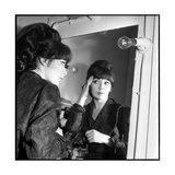 Juliette Greco Preparing to Go on Stage