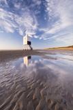 Wooden Lighthouse on Burnham Beach at Low Tide  Burnham-On-Sea  Somerset  England Winter