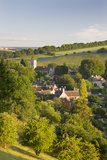 Cottages Nestled into the Valley in Picturesque Cotswolds Village of Naunton  England