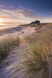 Sunrise over Bamburgh Castle  Northumberland  England Spring