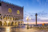 Italy  Veneto  Venice Sunrise over Piazzetta San Marco and Doges Palace