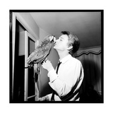Claude François Kissing His Parrot