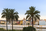 Spain  Andalusia  Seville Triana District at Sunrise with Guadalquivir River
