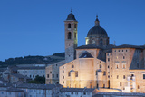 View of Duomo (Cathedral) at Dusk  Urbino (Unesco World Heritage Site)  Le Marche  Italy