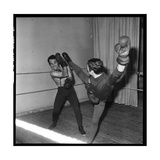 Guy Marchand During a Boxing Session