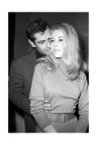 "Jane Fonda Et Roger Vadim During the Shooting of the Movie ""La Curée"""
