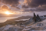 Spectacular Sunrise over the Old Man of Storr  Isle of Skye  Scotland Winter (December)