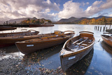 Rowing Boats on Derwent Water at Keswick  Lake District  Cumbria  England Autumn