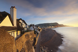 View of Houses Overlooking Sidmouth Seafront  Sidmouth  Devon  England Winter